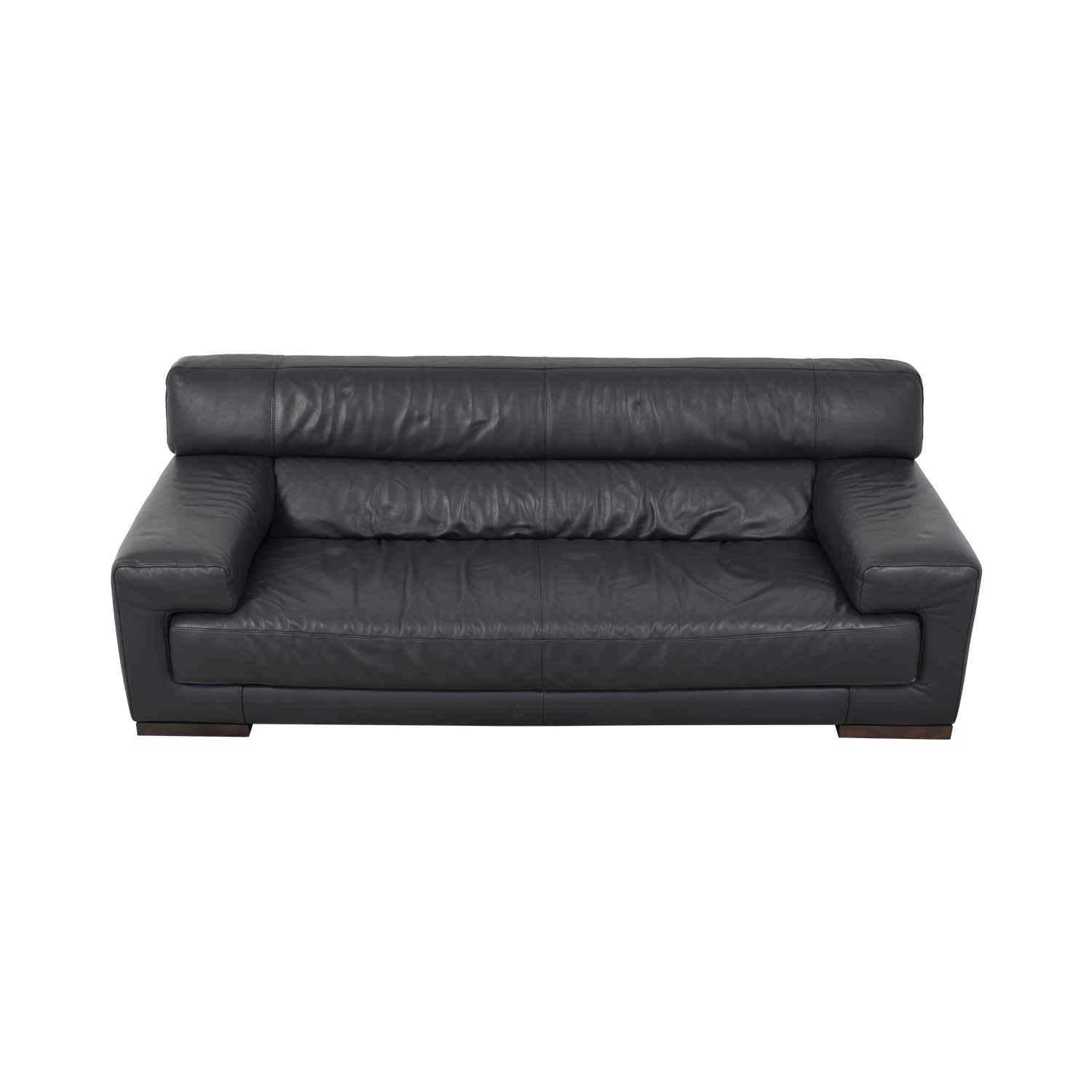 76% OFF - Contemporary Leather Sofa / Sofas