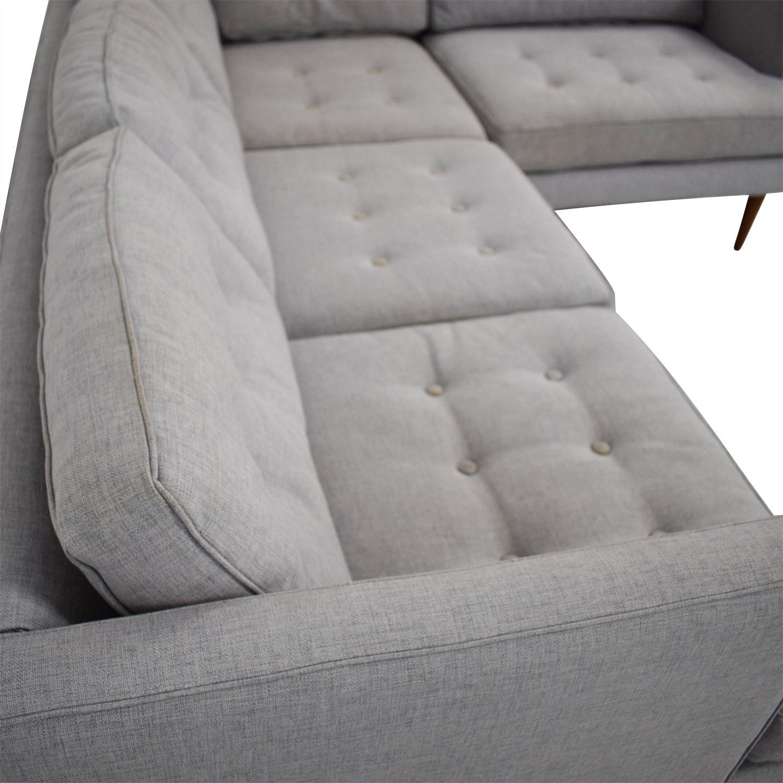 79% OFF - West Elm West Elm Peggy Sectional Sofa / Sofas