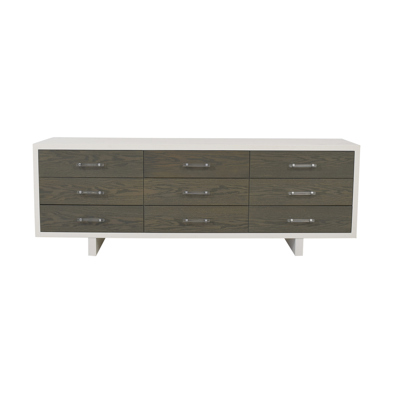 Atelier Atelier Nine-Drawer White and Gray Dresser Storage