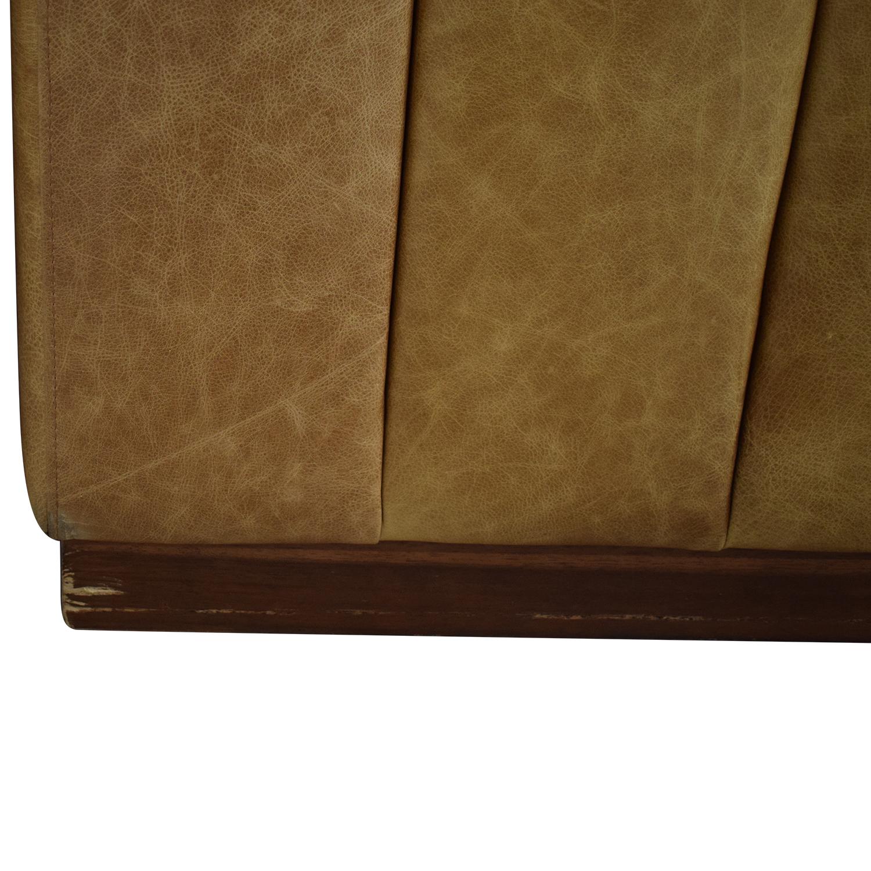buy CB2 Forte Saddle Leather Channeled Sofa Extra Large CB2