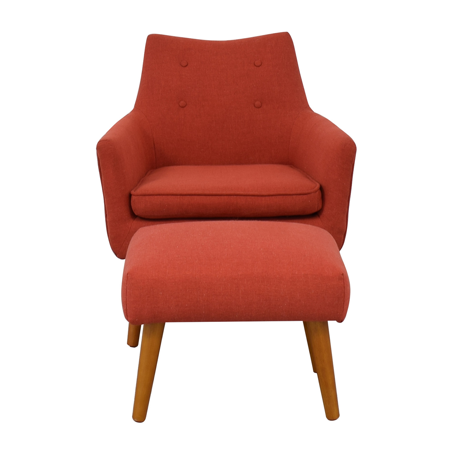 buy West Elm Mid Century Chair with Ottoman West Elm Chairs