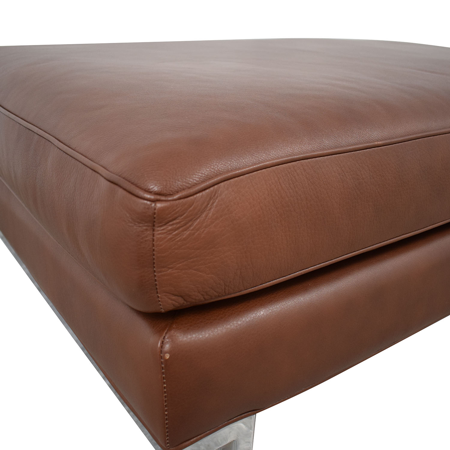 Design Within Reach Design Within Reach Theatre Ottoman Leather Ottoman second hand