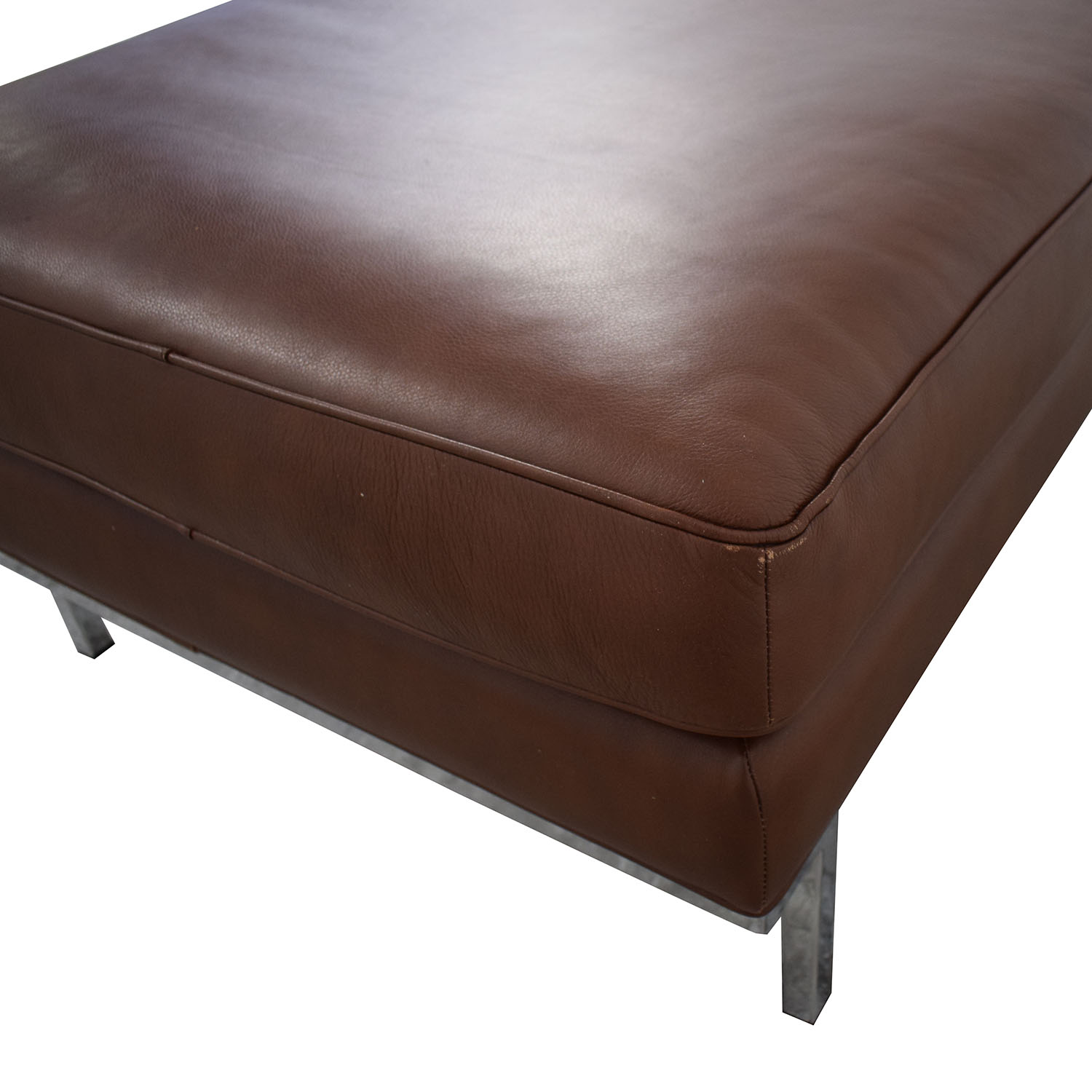 shop Design Within Reach Theatre Ottoman Leather Ottoman Design Within Reach Chairs