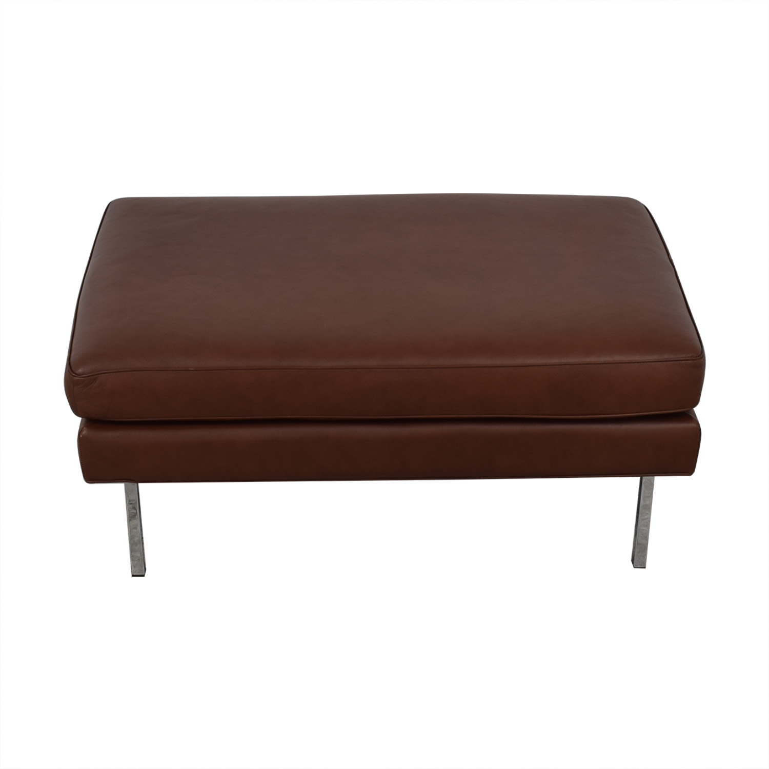 buy Design Within Reach Theatre Ottoman Leather Ottoman Design Within Reach