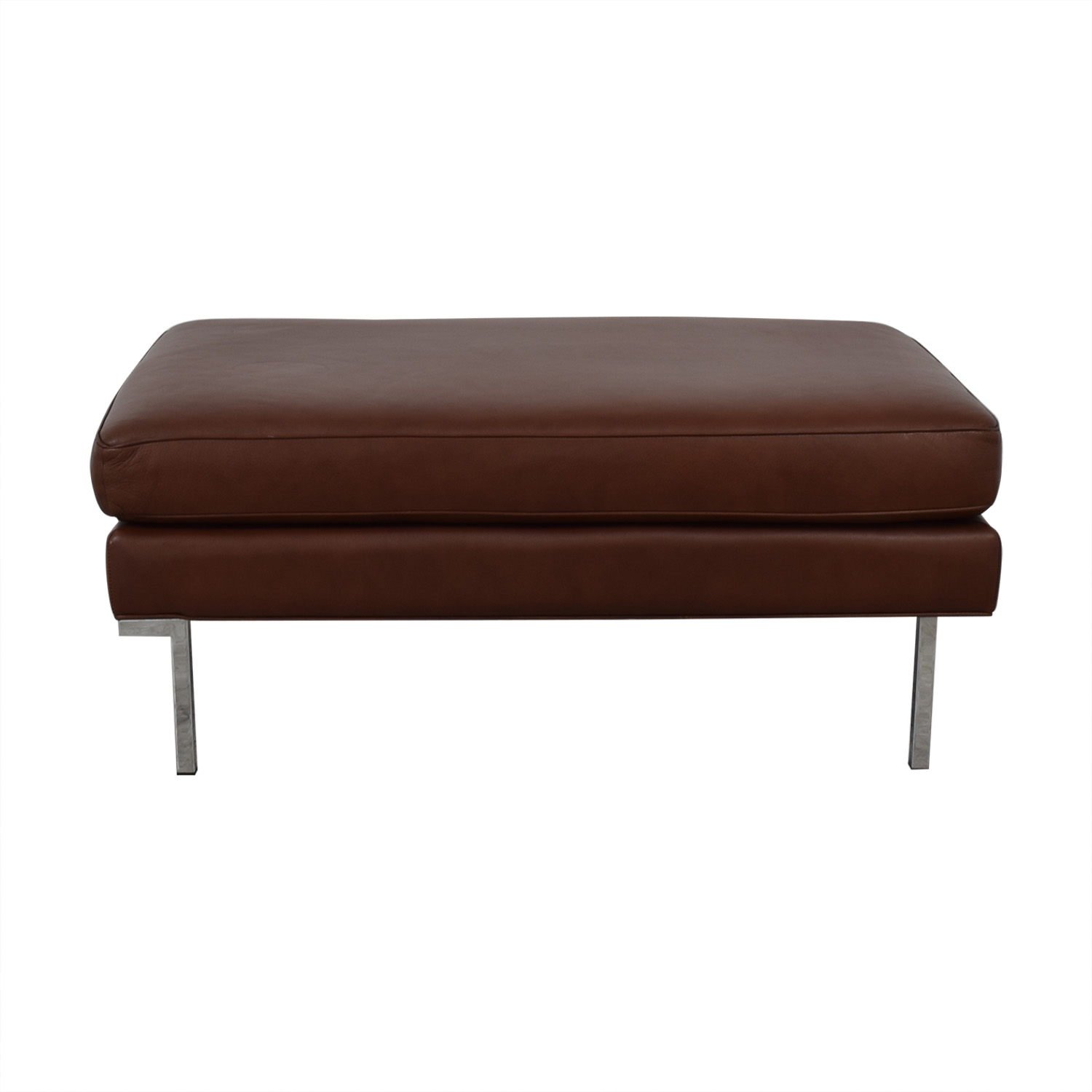 shop Design Within Reach Design Within Reach Theatre Ottoman Leather Ottoman online