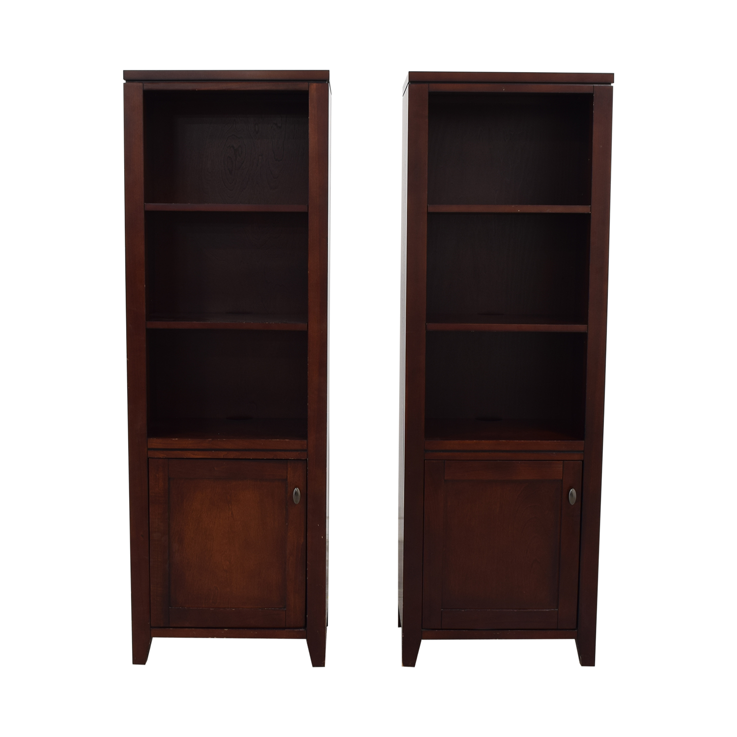 Crate & Barrel Crate & Barrel Twin Bookshelves Bookcases & Shelving