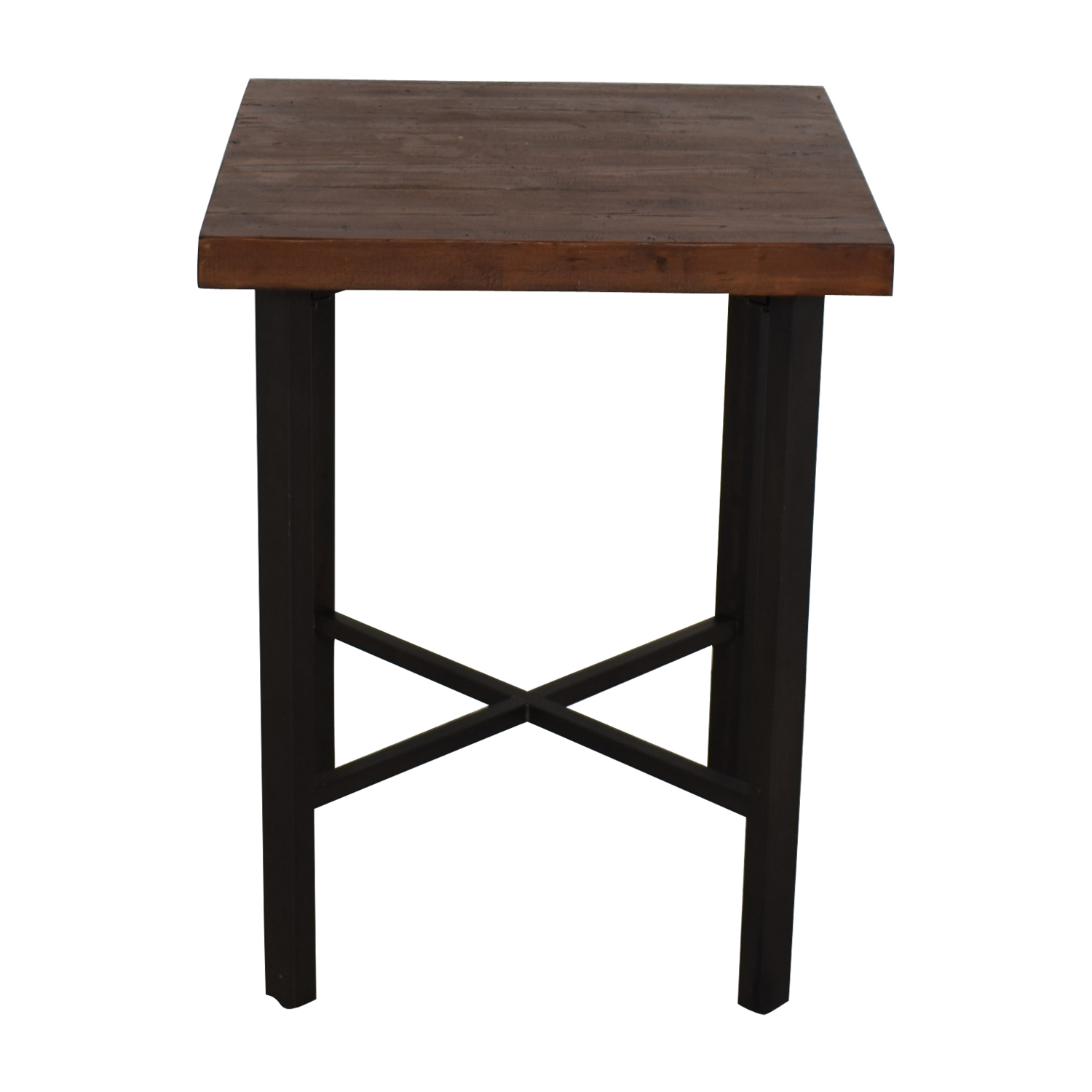 Picture of: 73 Off Pottery Barn Pottery Barn Griffin Reclaimed Wood Bar Height Table Tables