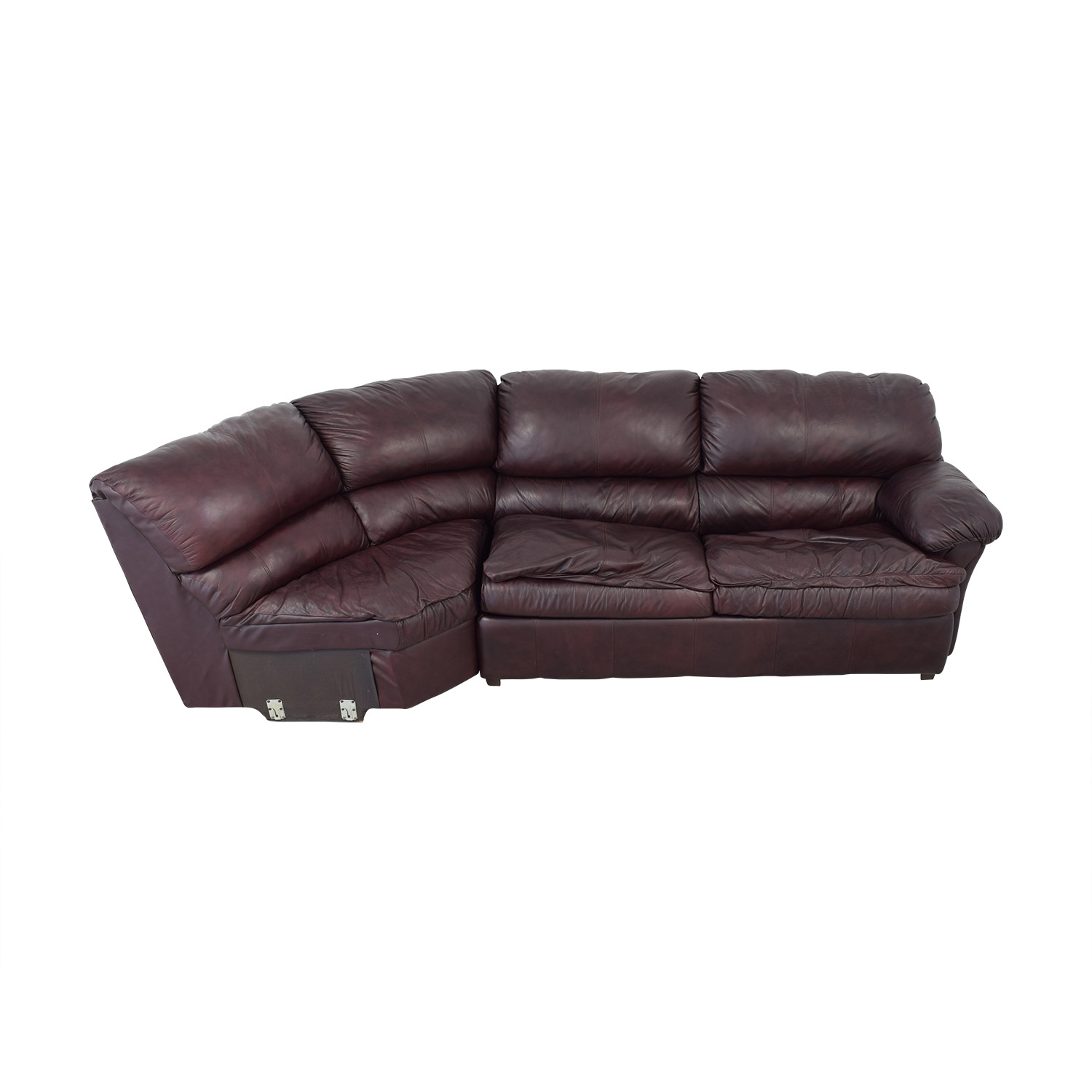 70% OFF - Leather Sleeper Sectional Sofa Bed / Sofas