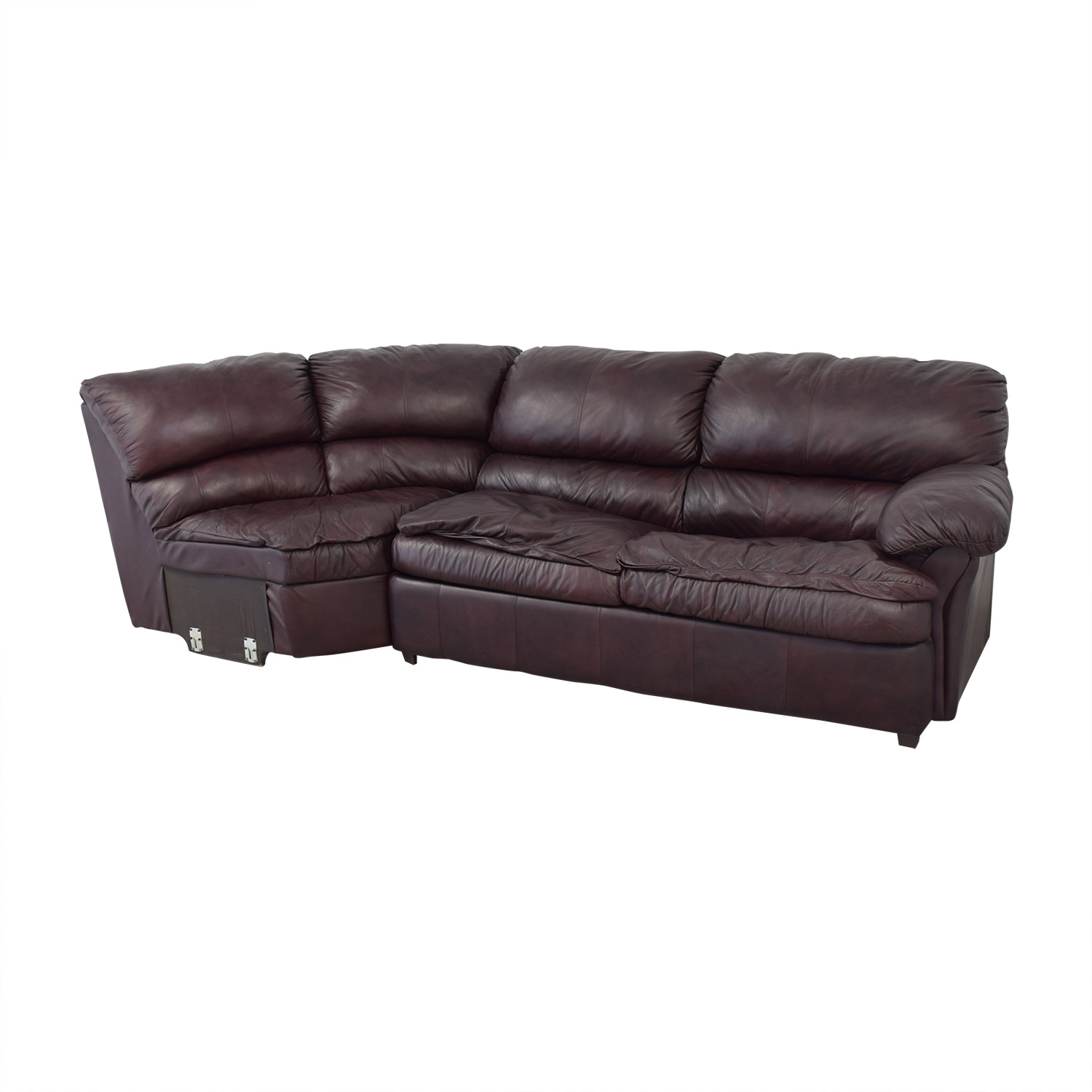 81 Off Leather Sleeper Sectional Sofa Bed Sofas