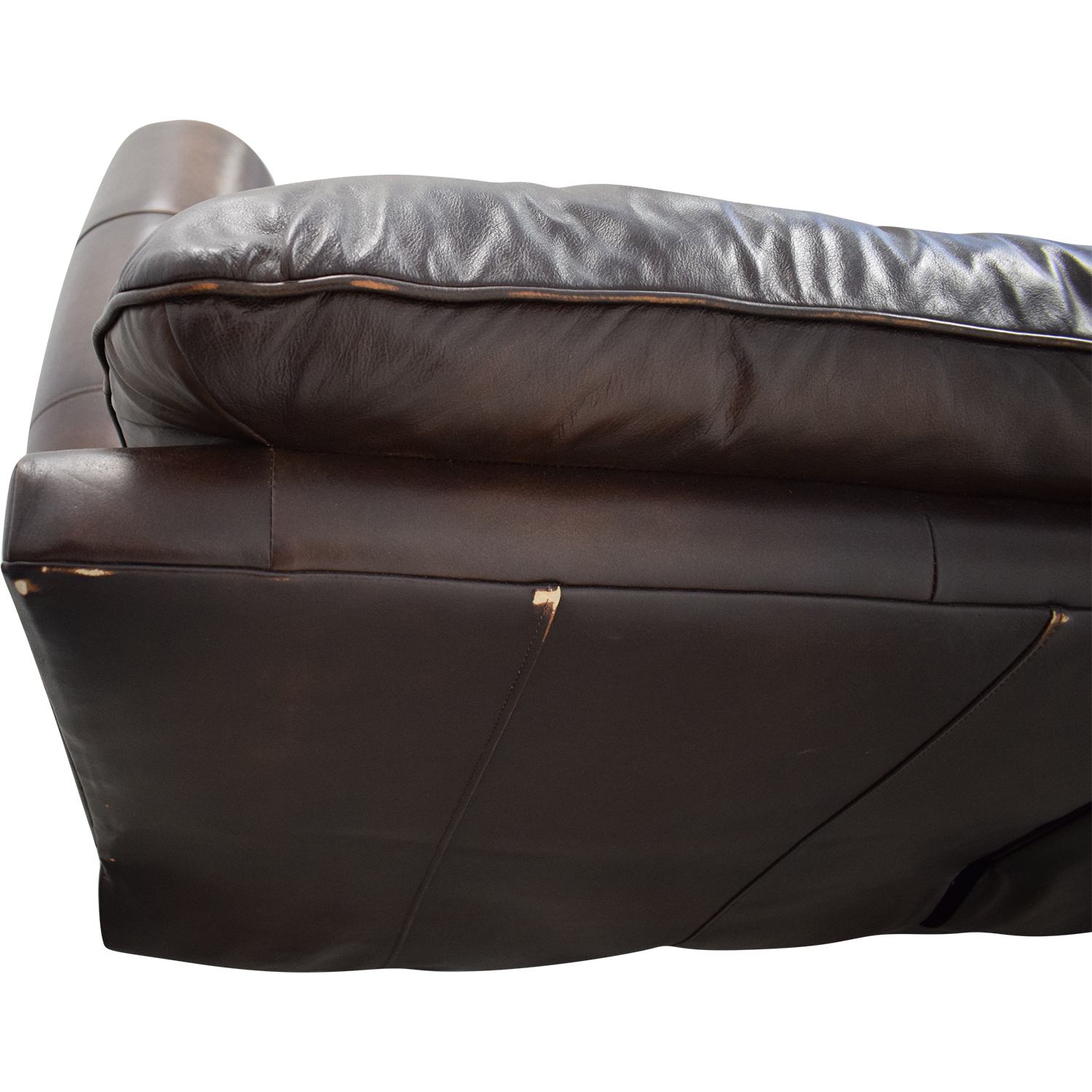 shop Raymour & Flanigan Leather Loveseat Recliner Raymour & Flanigan Loveseats