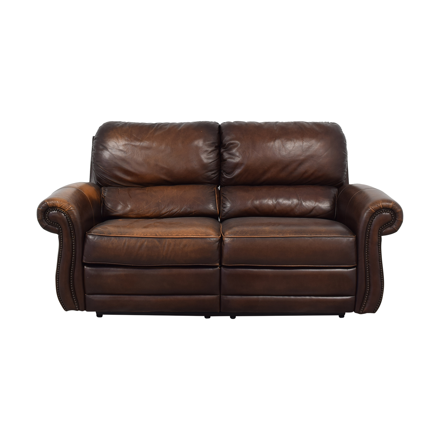 Raymour & Flanigan Leather Loveseat Recliner Raymour & Flanigan