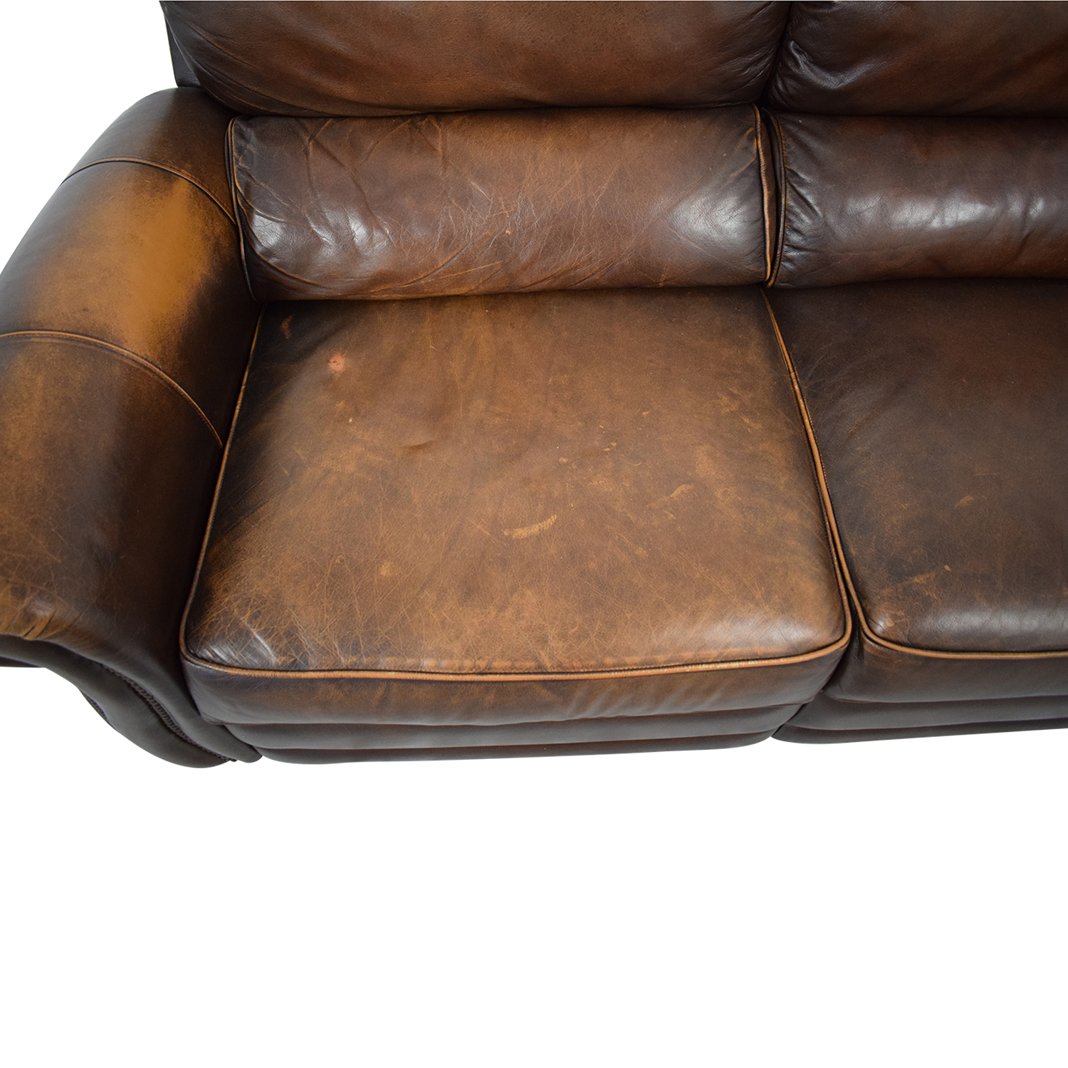 buy Raymour & Flanigan Leather Loveseat Recliner Raymour & Flanigan