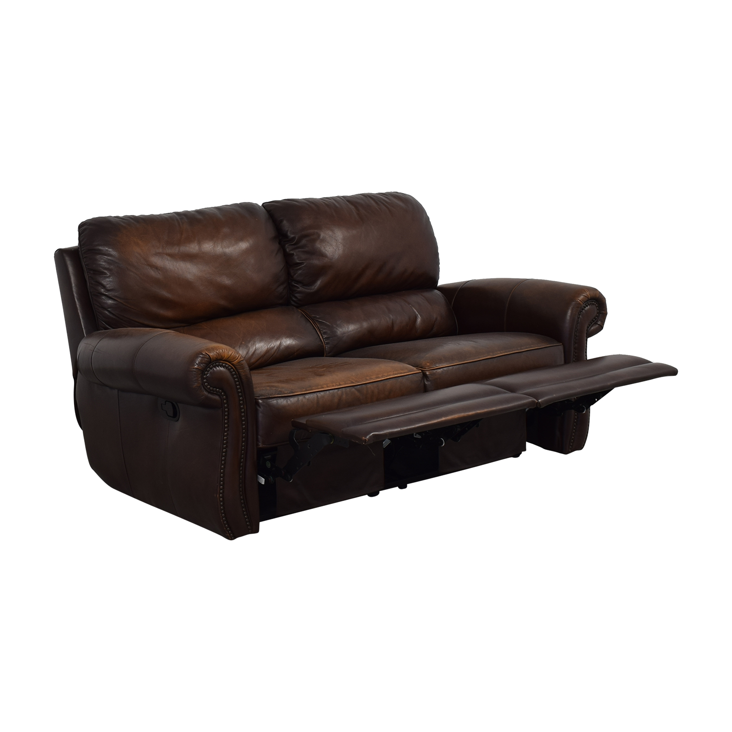 Raymour & Flanigan Raymour & Flanigan Leather Loveseat Recliner coupon
