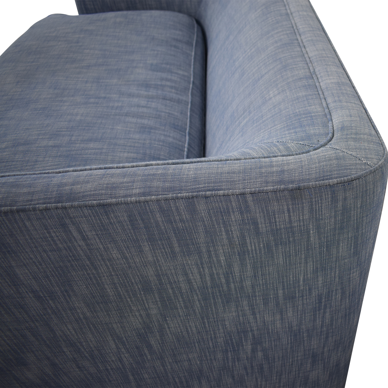 buy Custom Blue Loveseat  Sofas