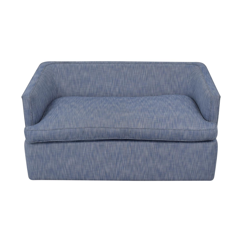 Custom Blue Loveseat on sale
