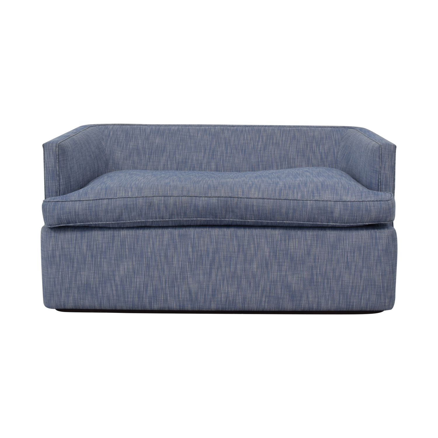 Custom Blue Loveseat discount