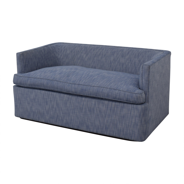 shop Custom Blue Loveseat  Sofas