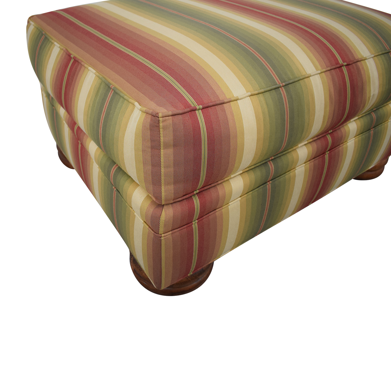 Thomasville Striped Ottoman / Ottomans
