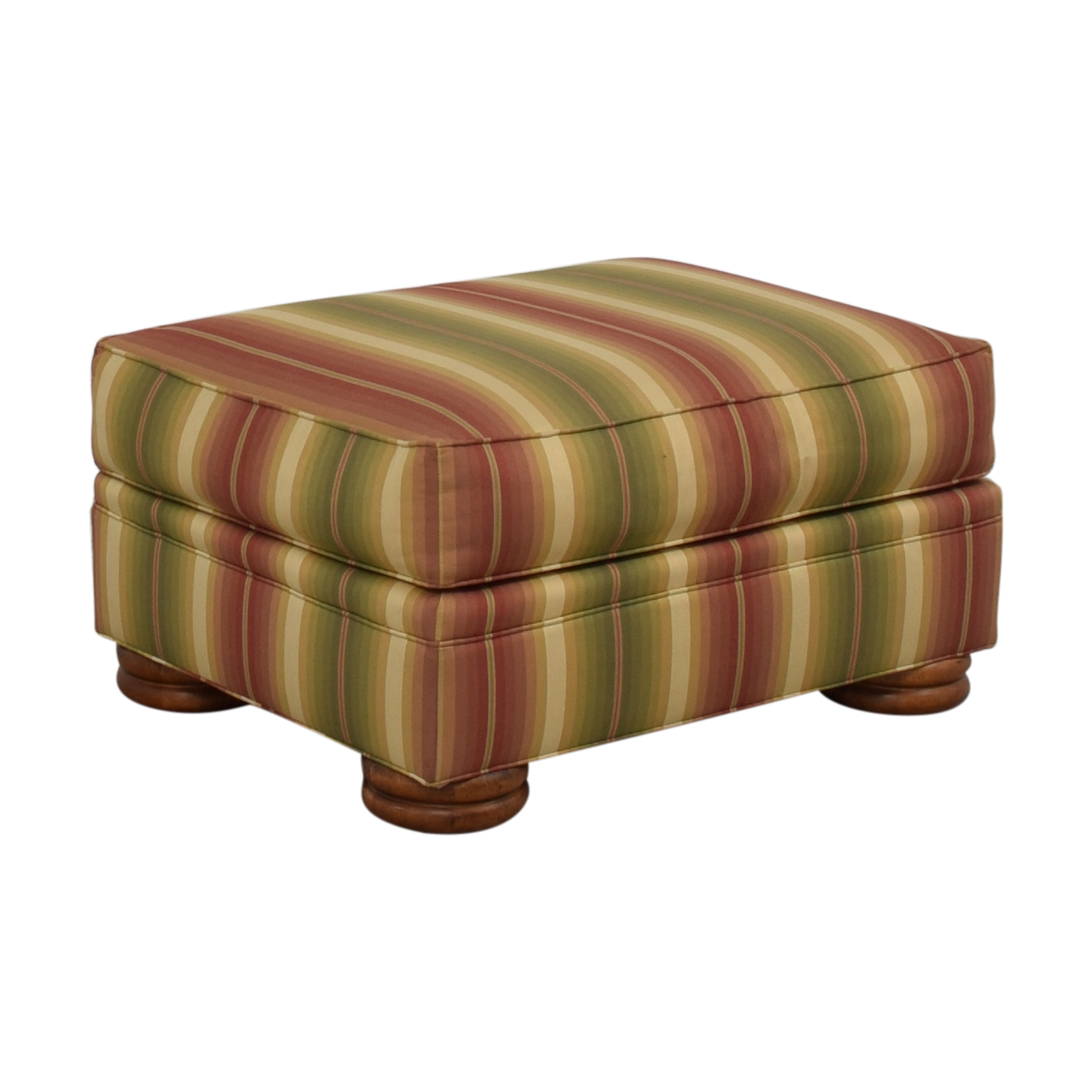 shop Thomasville Striped Ottoman Thomasville Chairs