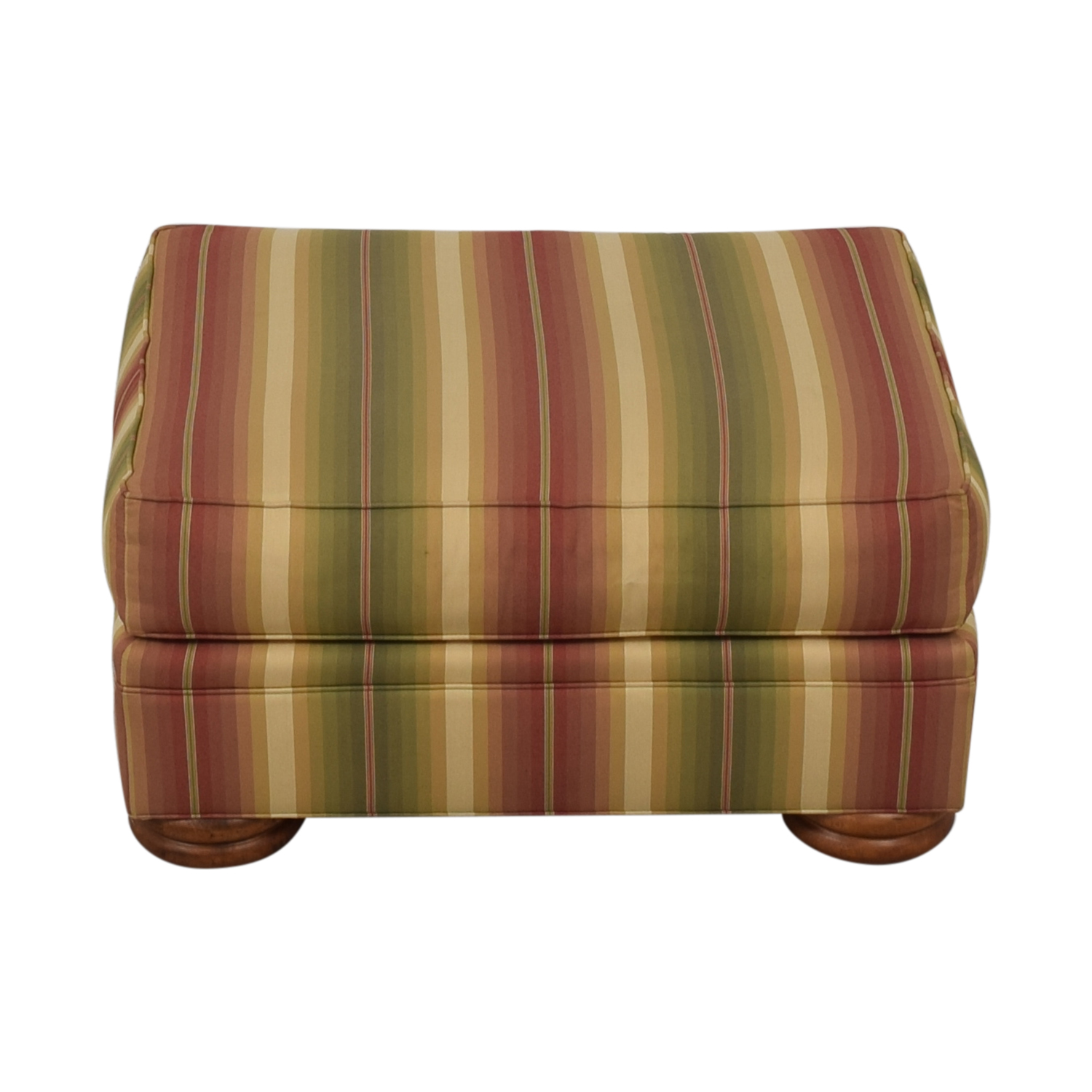 Thomasville Thomasville Striped Ottoman used