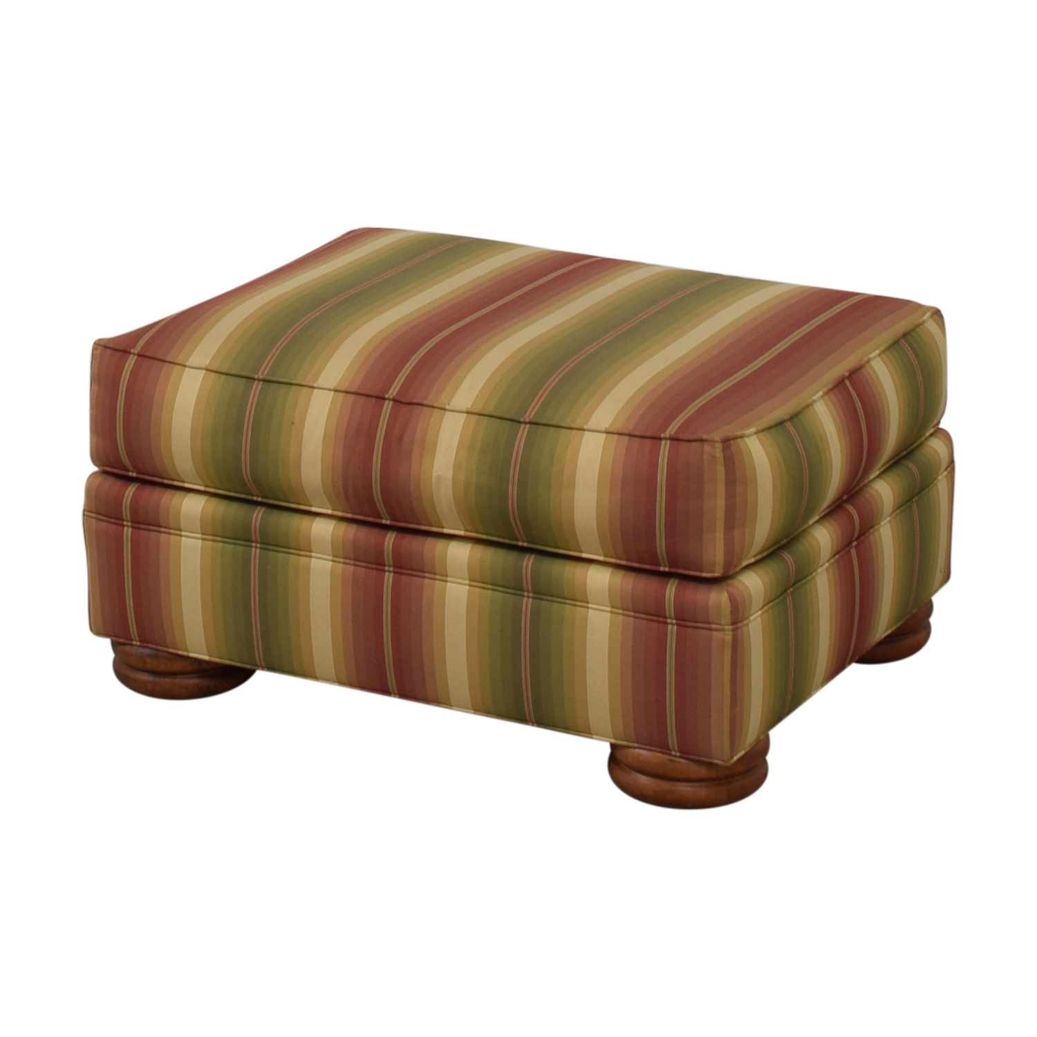 Thomasville Thomasville Striped Ottoman nj