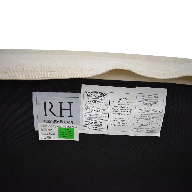 shop Restoration Hardware Belgian Slope Arm Slipcover Sofa Restoration Hardware