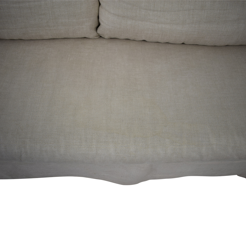 Restoration Hardware Belgian Slope Arm Slipcover Sofa / Sofas