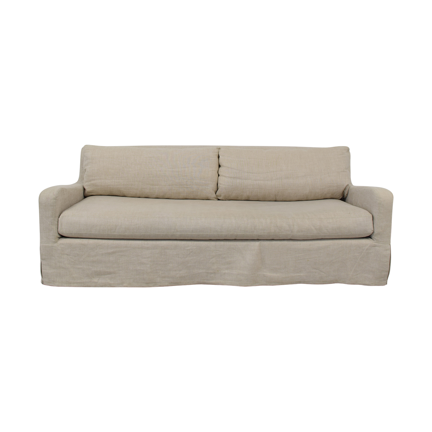 buy Restoration Hardware Belgian Slope Arm Slipcover Sofa Restoration Hardware Classic Sofas