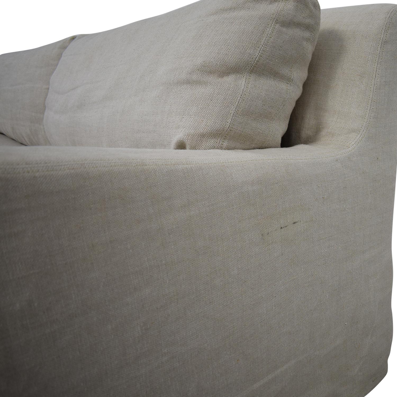 Restoration Hardware Restoration Hardware Belgian Slope Arm Slipcover Sofa