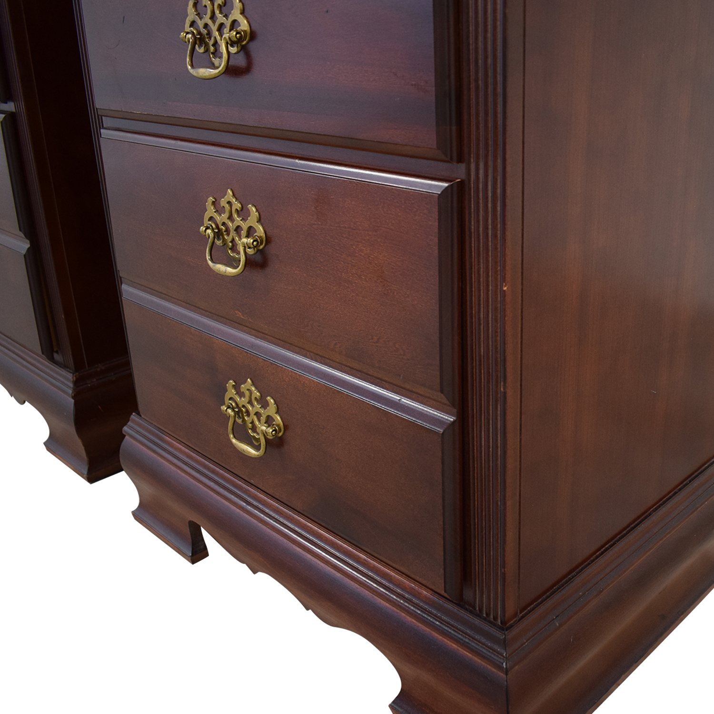 American Drew Three-Drawer Nightstands sale
