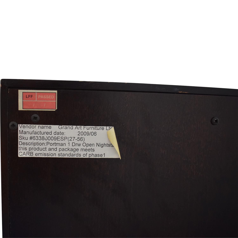 buy Restoration Hardware Portman 1-Drawer Open Nightstands Restoration Hardware Tables
