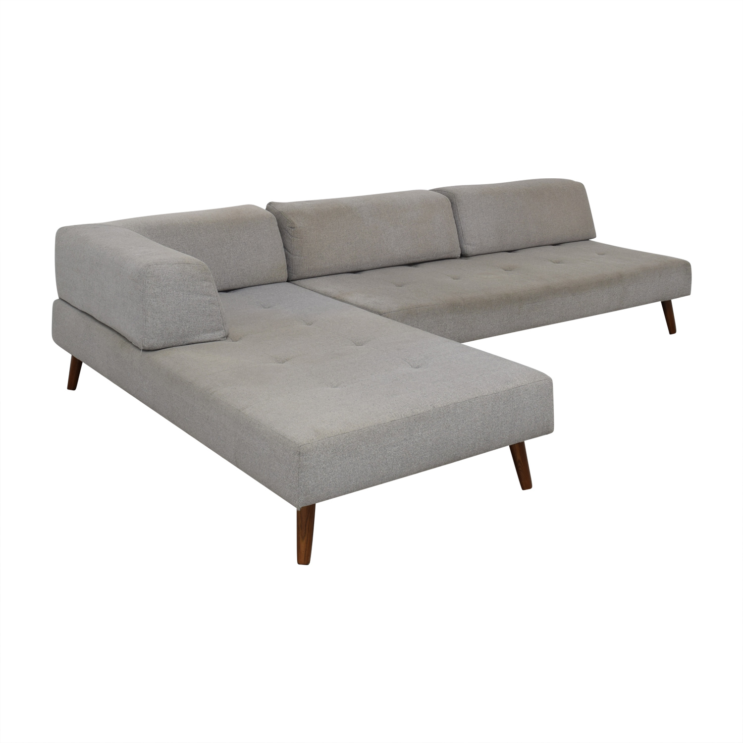 West Elm West Elm Sectional Couch Light grey