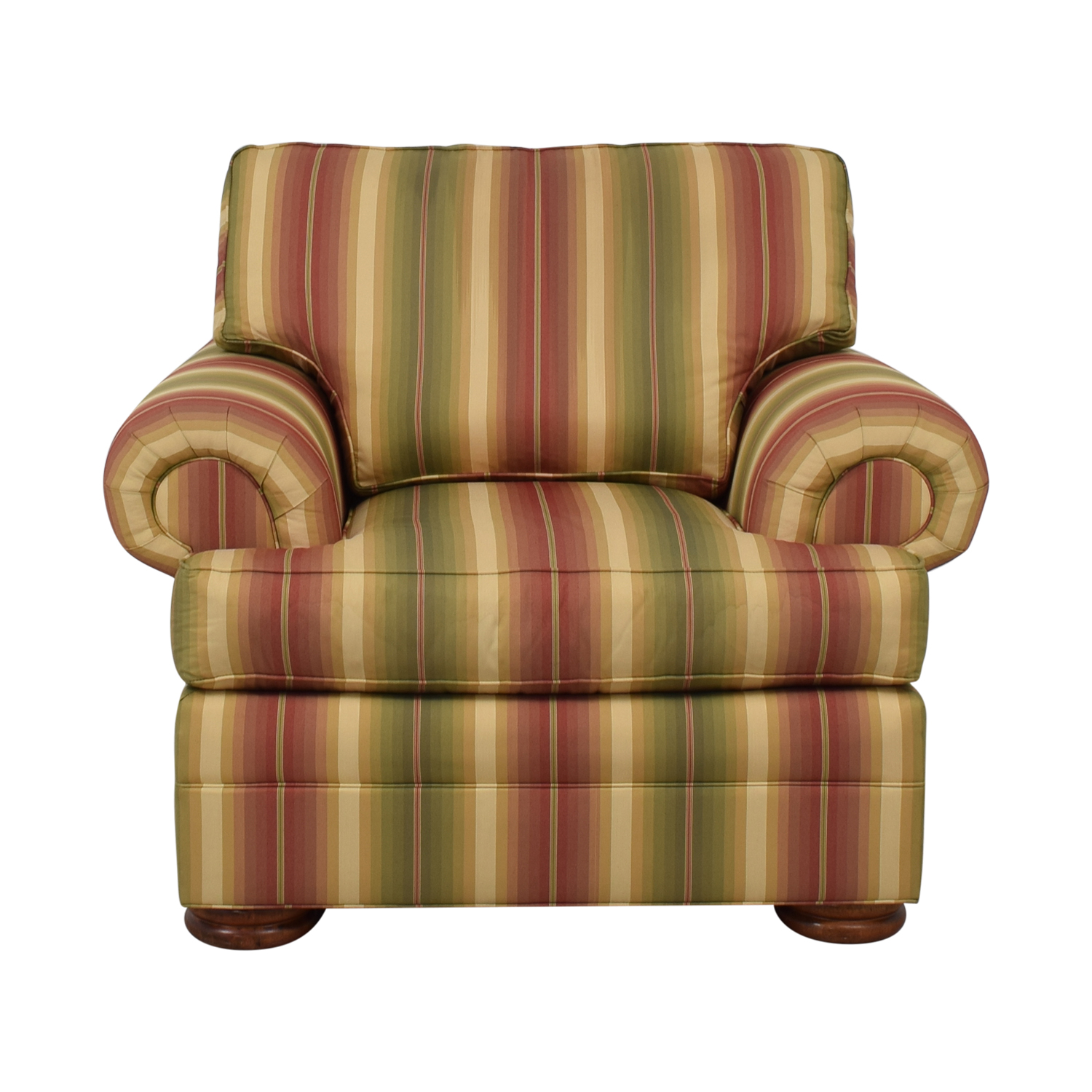 buy Thomasville Custom Roll Arm Accent Chair Thomasville