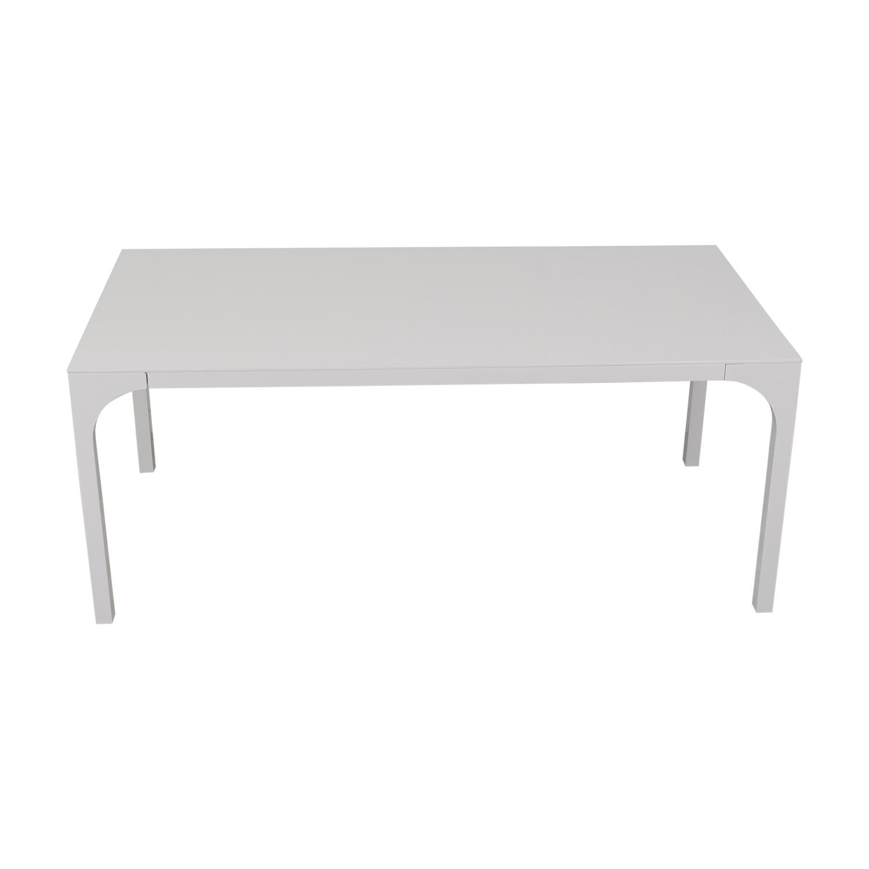 buy CB2 Aqua Virgo Dining Table CB2 Tables