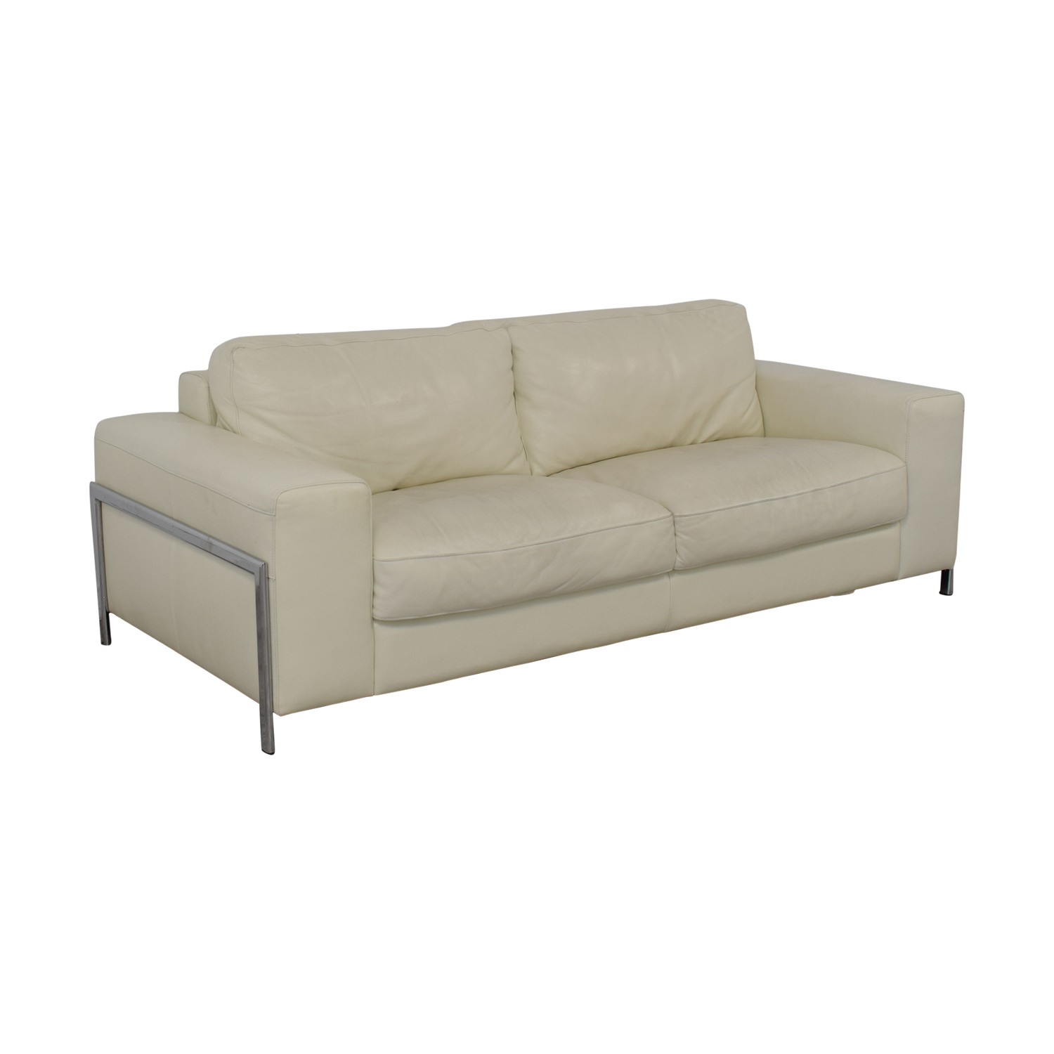 72% OFF - Cort Cort Encore Home Designs Modern Leather Sofa / Sofas