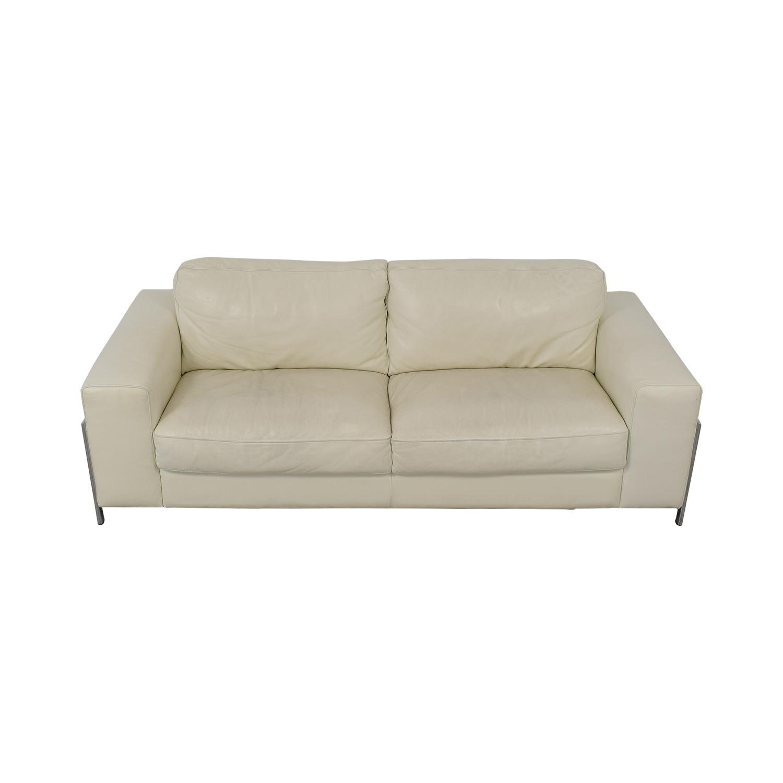 72% OFF - Cort Cort Encore Home Designs Modern Leather Sofa / Sofas