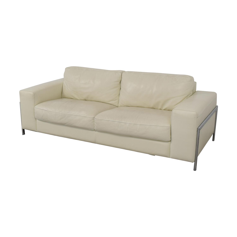 78% OFF - Cort Cort Encore Home Designs Modern Leather Sofa / Sofas