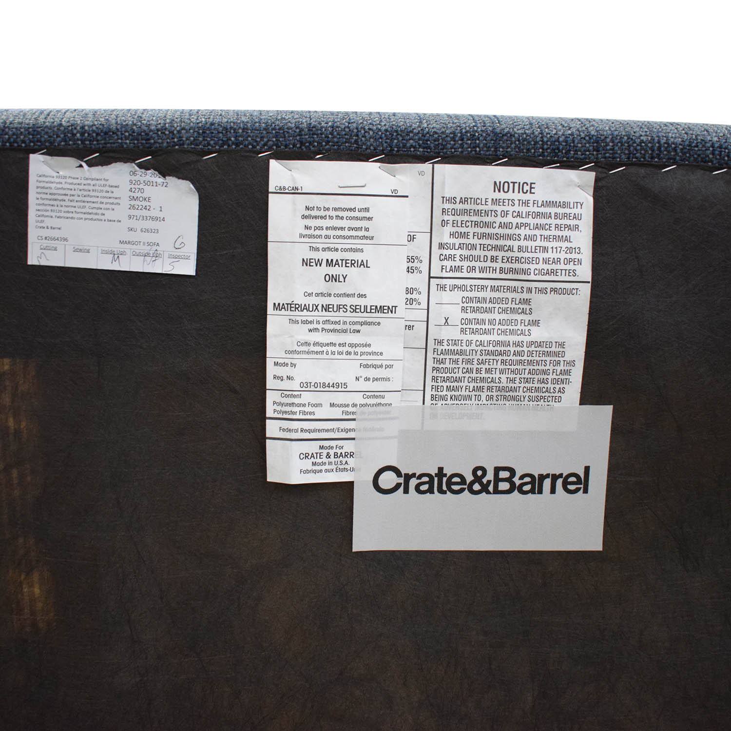 Crate & Barrel Crate & Barrel Margot II Loveseat price