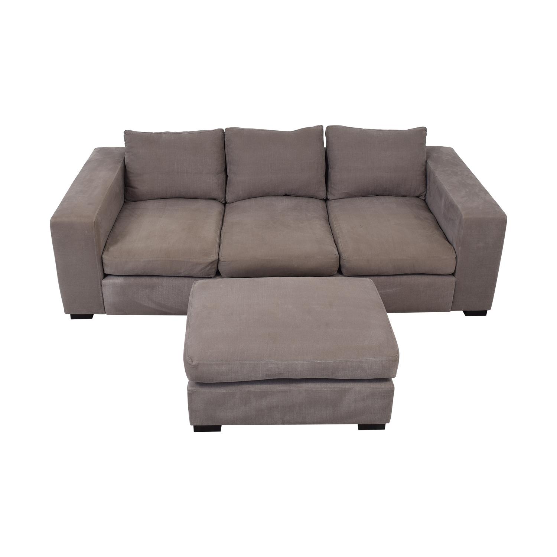Raft Raft Three Cushion Sofa and Ottoman dimensions