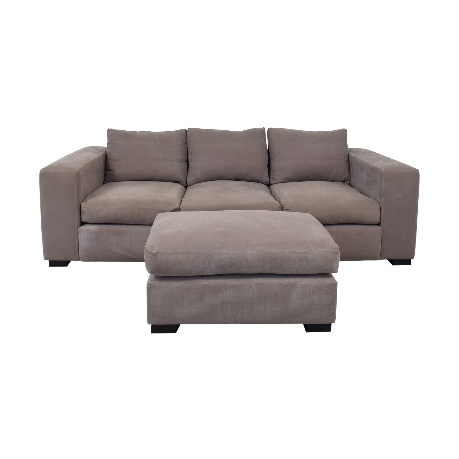 buy Raft Three Cushion Sofa and Ottoman Raft Classic Sofas