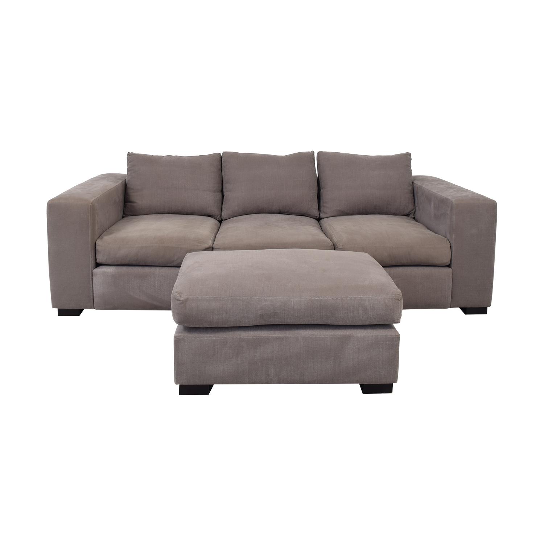 Raft Three Cushion Sofa and Ottoman / Classic Sofas