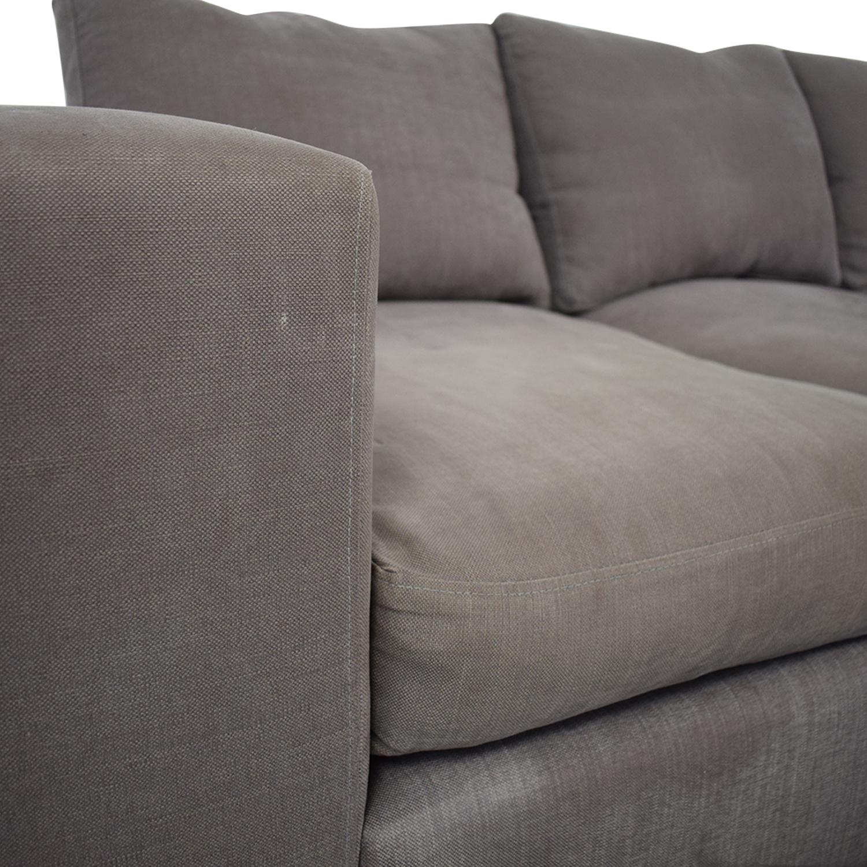 buy Raft Three Cushion Sofa and Ottoman Raft Sofas