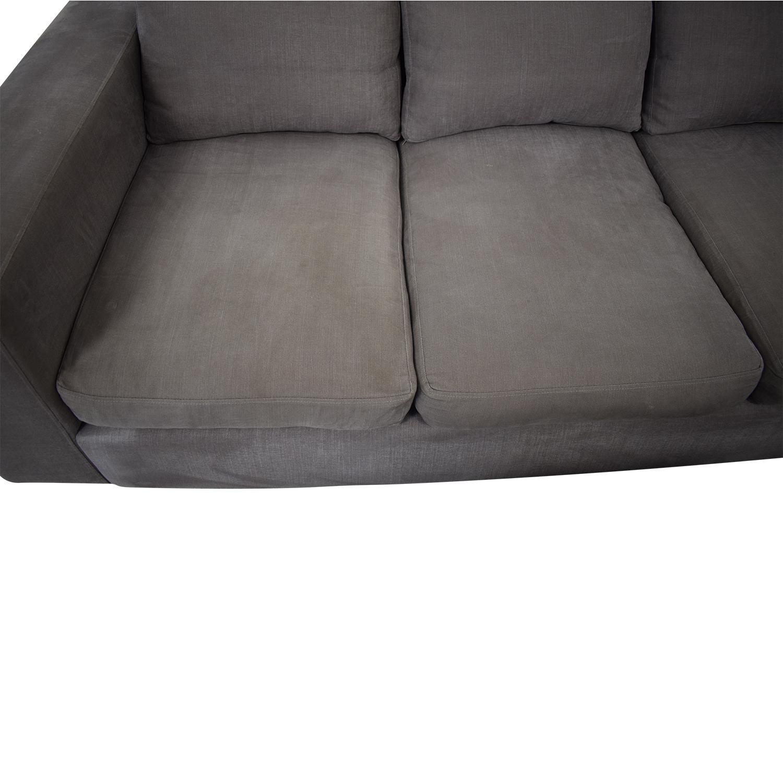 buy Raft Three Cushion Sofa and Ottoman Raft Classic Sofas