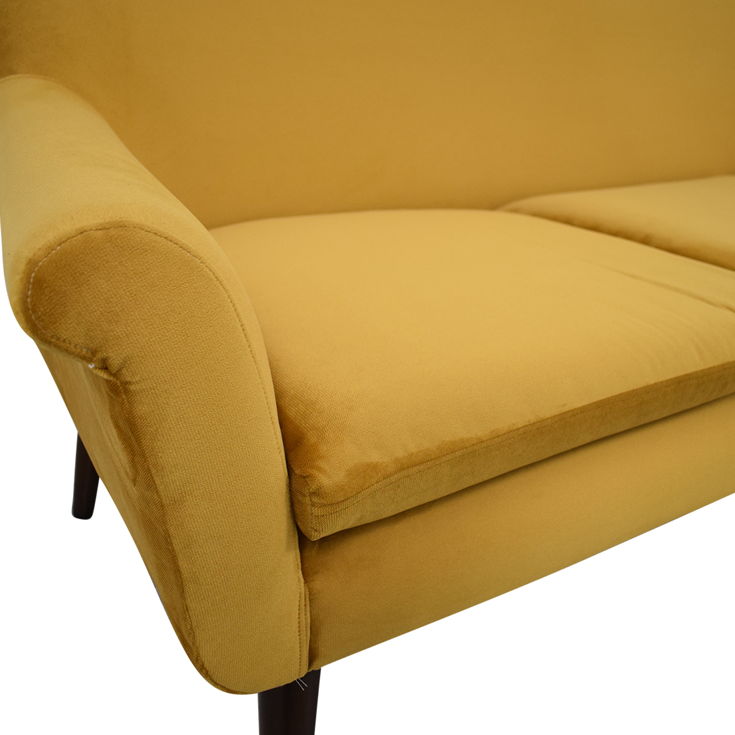 Urban Outfitters Urban Outfitters Yellow Velvet Sofa on sale