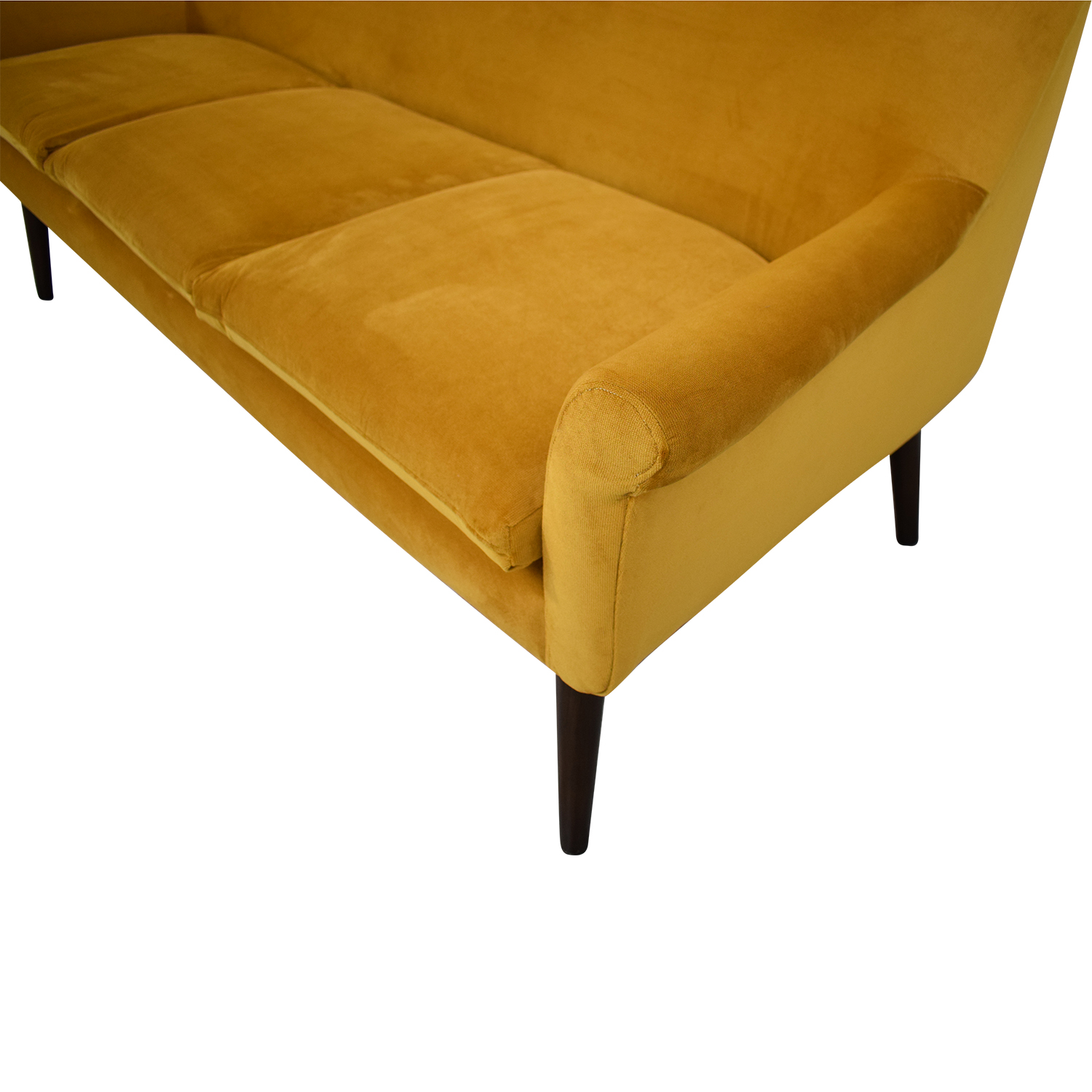 Urban Outfitters Yellow Velvet Sofa Urban Outfitters