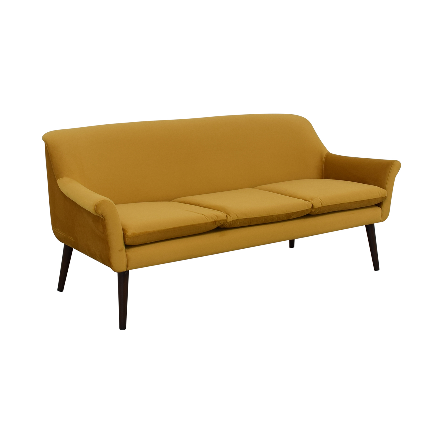 Urban Outfitters Urban Outfitters Yellow Velvet Sofa yellow