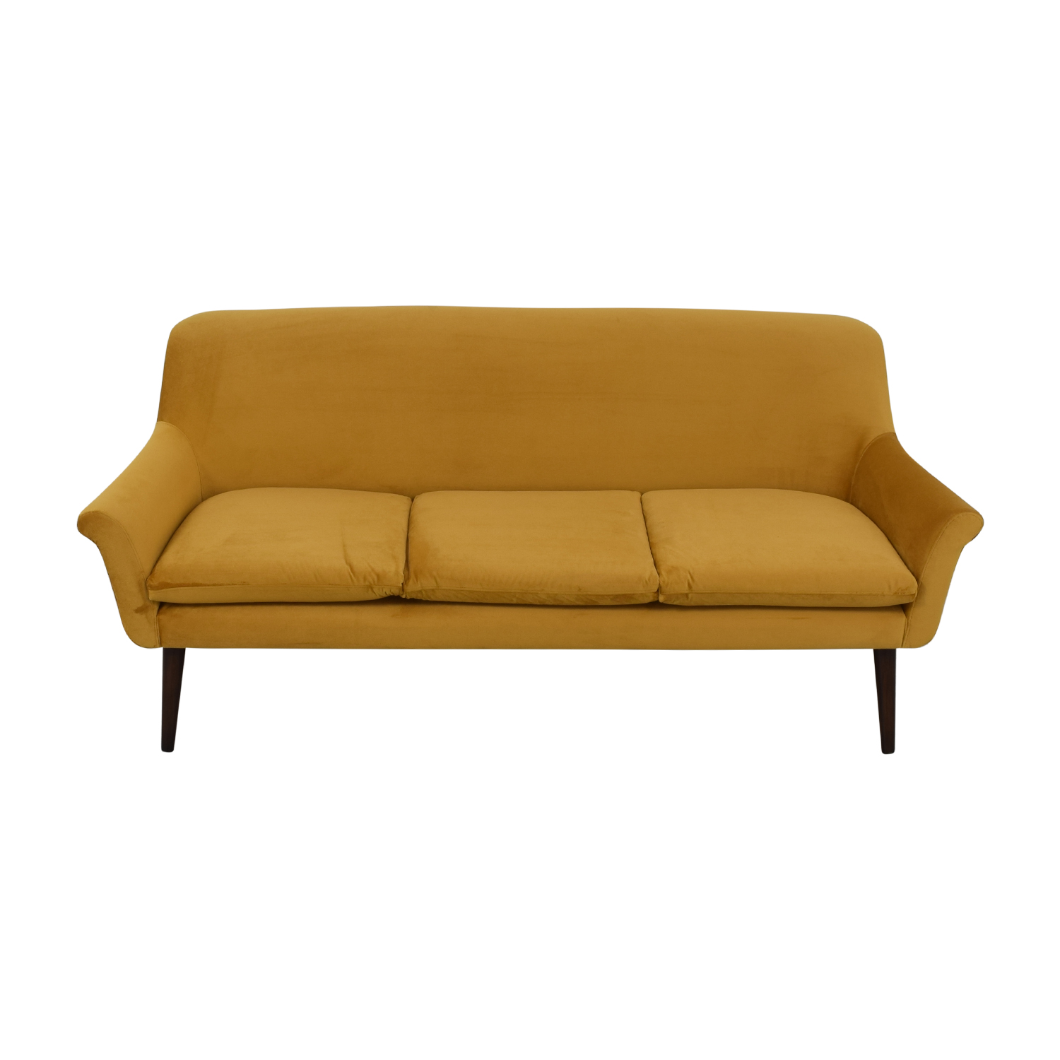 Urban Outfitters Urban Outfitters Yellow Velvet Sofa Sofas
