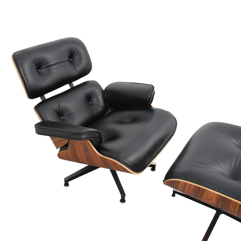 shop Manhattan Home Design Eames-Style Classic Lounge Chair and Ottoman Manhattan Home Design Accent Chairs