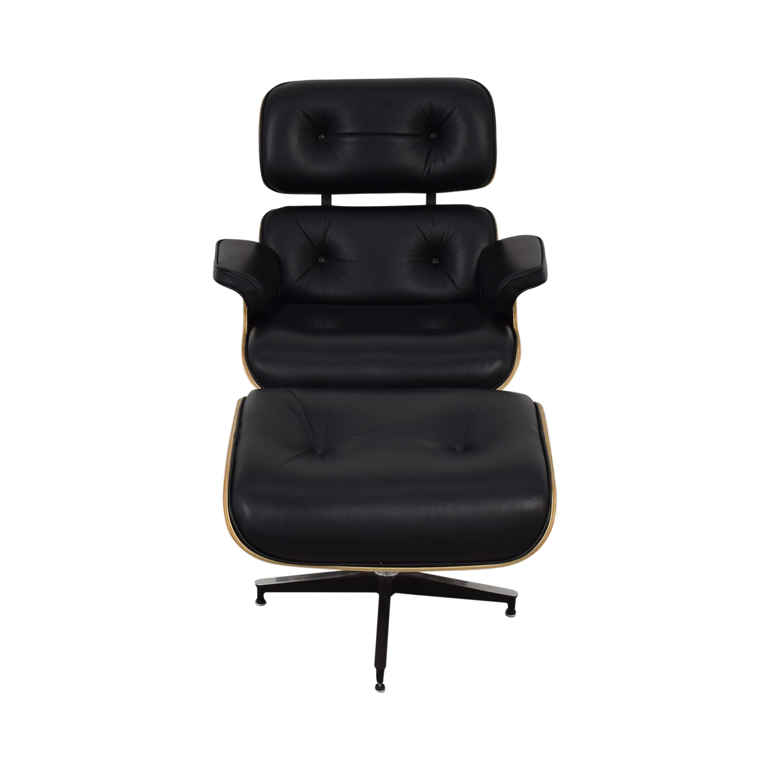 Manhattan Home Design Eames-Style Classic Lounge Chair and Ottoman / Chairs