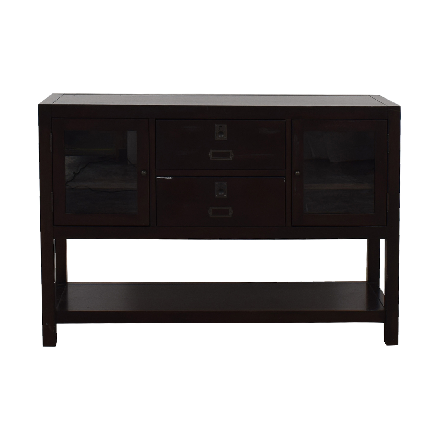 Restoration Hardware Restoration Hardware Dark Wood Buffet Storage